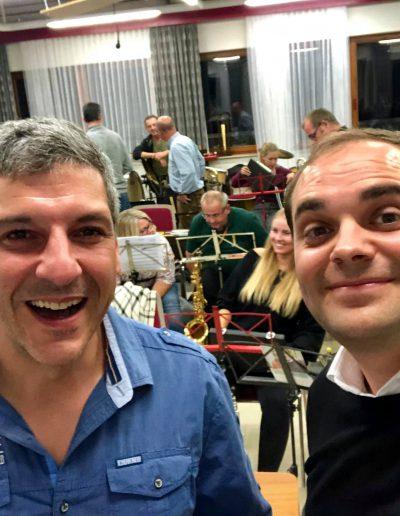 Auf der Probe des Musikverein Stammheim